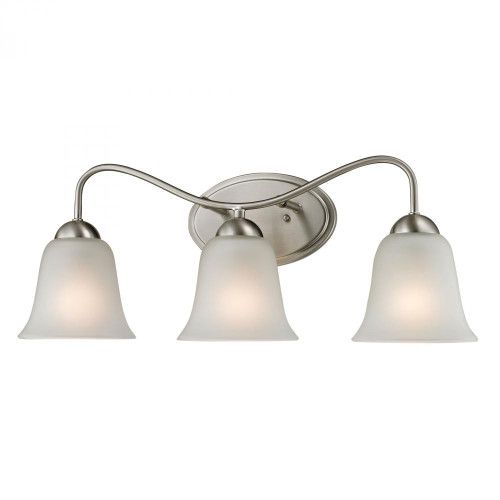 Wall Lights By Elk Cornerstone Conway 3 Light Bath Bar In Brushed Nickel 1203BB/20
