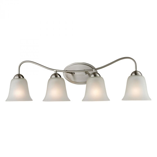 Wall Lights By Elk Cornerstone Conway 4 Light Bath Bar In Brushed Nickel 1204BB/20