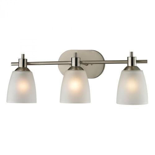 Wall Lights By Elk Cornerstone Jackson 3 Light Bath Bar In Brushed Nickel 1303BB/20