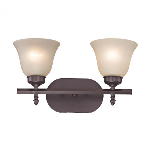 Wall Lights By Elk Cornerstone Santa Fe 2 Light Bath Bar In Oil Rubbed Bronze 2202BB/10