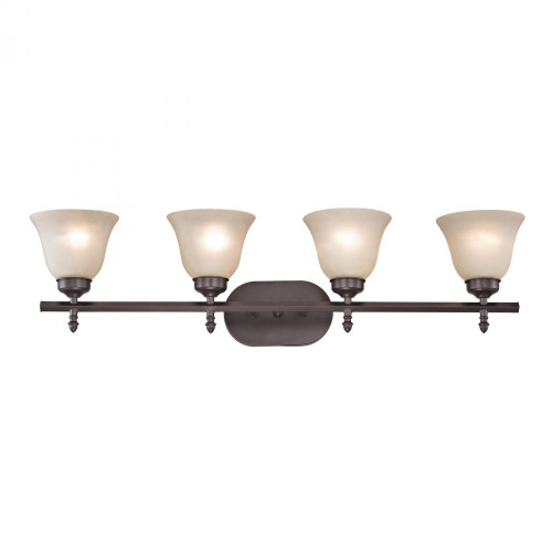 Wall Lights By Elk Cornerstone Santa Fe 4 Light Bath Bar In Oil Rubbed Bronze 2204BB/10