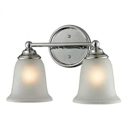 Wall Lights By Elk Cornerstone Sudbury 2 Light Bathbar In Chrome 5602BB/30