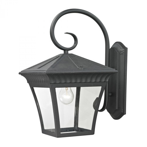 Outdoor Lights By Elk Cornerstone Ridgewood 1 Light Exterior Coach Lantern In Matt 11x18.25 8421EW/65