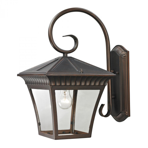 Outdoor Lights By Elk Cornerstone Ridgewood 1 Light Exterior Coach Lantern In Haze 11x18.25 8421EW/70