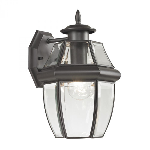 Outdoor Lights By Elk Cornerstone Ashford 1 Light Exterior Coach Lantern In Oil Rubbed Bronze 8601EW/75