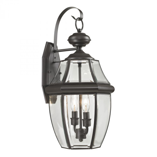 Outdoor Lights By Elk Cornerstone Ashford 2 Light Exterior Coach Lantern In Oil Rubbed Bronze 8602EW/75