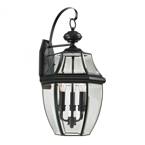 Outdoor Lights By Elk Cornerstone Ashford 3 Light Exterior Coach Lantern In Black 8603EW/60