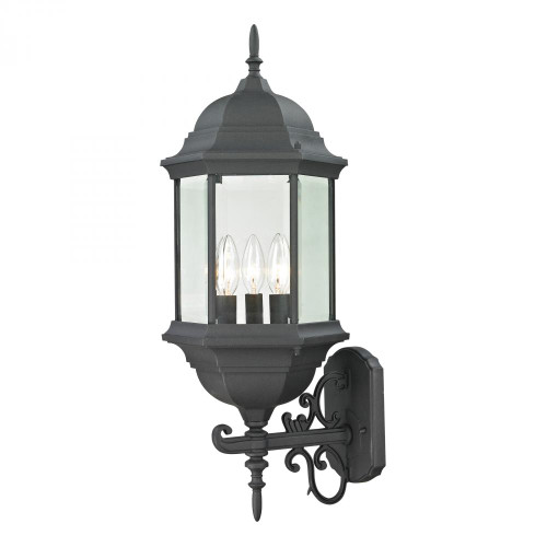Outdoor Lights By Elk Cornerstone Spring Lake 3 Light Exterior Coach Lantern In Matte Black 8603EW/65