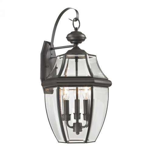 Outdoor Lights By Elk Cornerstone Ashford 3 Light Exterior Coach Lantern In Oil Rubbed Bronze 8603EW/75
