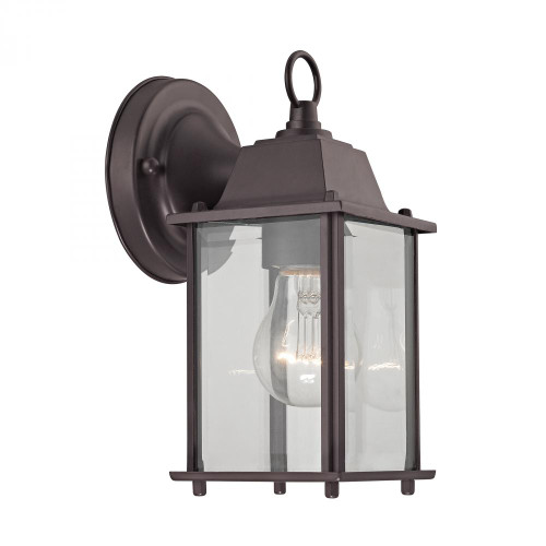 Outdoor Lights By Elk Cornerstone 1 Light Outdoor Wall Sconce In Oil Rubbed Bronze 5.75x4.75 9231EW/75