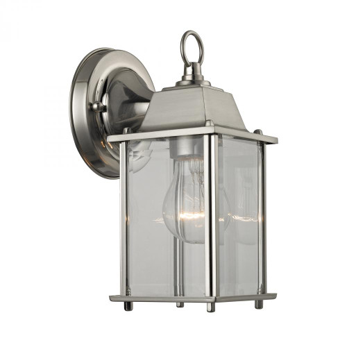 Outdoor Lights By Elk Cornerstone 1 Light Outdoor Wall Sconce In Brushed Nickel 9231EW/80