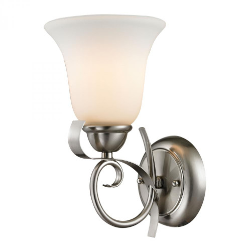 Wall Lights By Elk Cornerstone Brighton 1 Light Wall Sconce In Brushed Nickel 1001WS/20