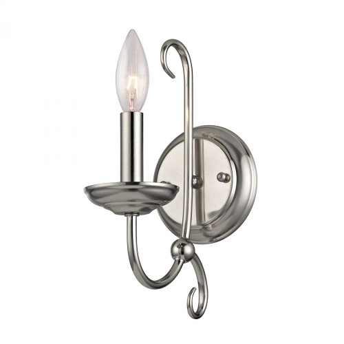 Wall Lights By Elk Cornerstone Williamsport 1 Light Wall Scone In Brushed Nickel 1501WS/20