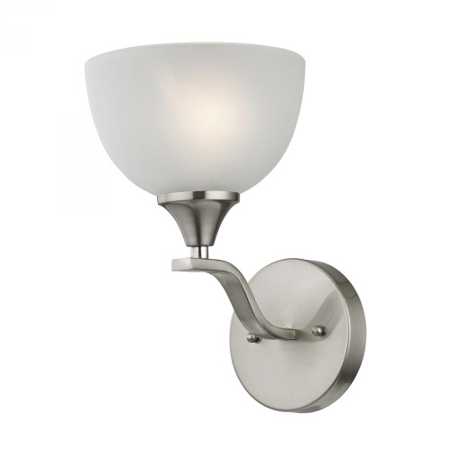 Wall Lights By Elk Cornerstone Bristol Lane 1 Light Wall Scone In Brushed Nickel 2101WS/20