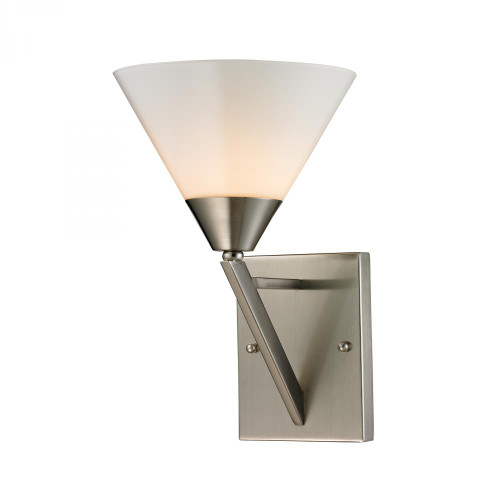 Wall Lights By Elk Cornerstone Tribecca 1 Light Wall Scone In Brushed Nickel 2451WS/20