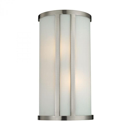 Wall Lights By Elk Cornerstone 2 Light Wall Sconce In Brushed Nickel 5102WS/20