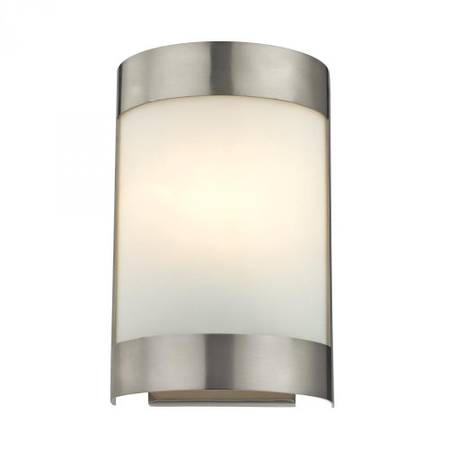 Wall Lights By Elk Cornerstone 1 Light Wall Sconce In Brushed Nickel 6.5x10 5181WS/20