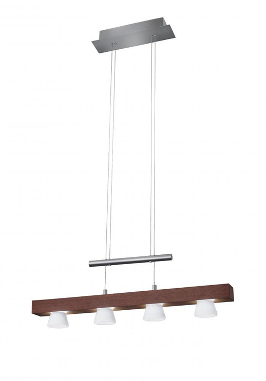 Chandeliers/Linear Suspension By Adesso Burlington LED 4 Light Adjustable Pendant 3097-15