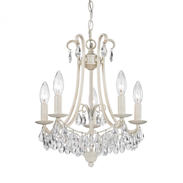 Chandeliers/Mini Chandeliers By Sterling Industries Mini Chandelier In Antique Cream And Clear 122-021