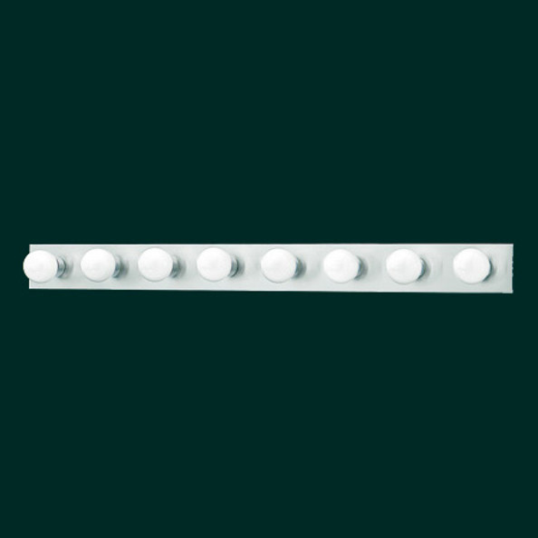 Wall Lights By Thomas Eight-light bath fixture in a Brushed Nickel finish. SL742578
