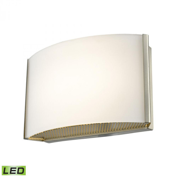 Wall Lights By Alico Pandora LED 1 Light LED Vanity In Satin Nickel And Opal Glass BVL911-10-16M