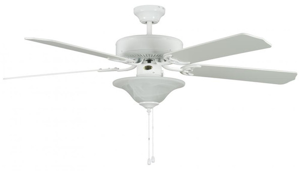 Ceiling Fans By Concord Fans Concord By Luminance 52 Inch Heritage Sq Ceiling Fan W/Bowl Lt - White 52HES5EWH