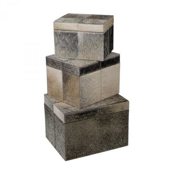 Home Decor By Dimond Nested Faux Pony Boxes - Set of 3 284022