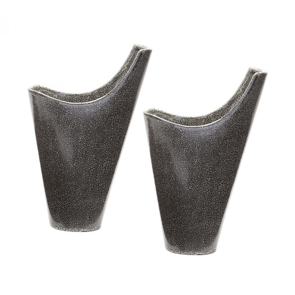 Home Decor By Dimond Reaction Filled Vases In Grey - Set of 2 857124/S2