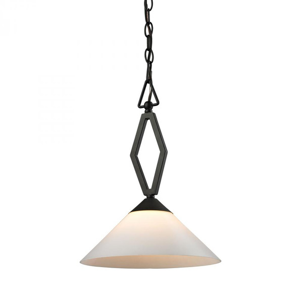 Chandeliers/Pendant Lights By Elk Cornerstone Tribecca 1 Light Pendant Large In Oil Rubbed bronze 2401PL/10