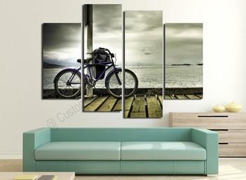 Landscape Bike Paintings on Modern Wall Art Online