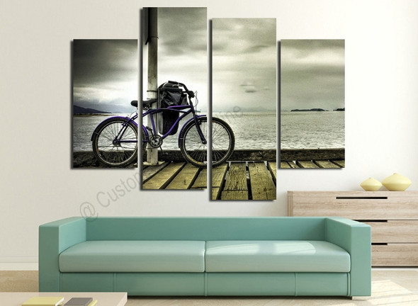 Landscape Bike Paintings on Modern Wall Art Online