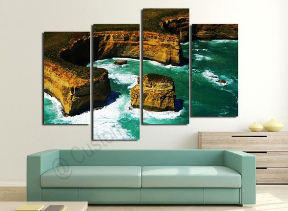 Victoria Gold Coast Limestone Cliffs Wall Art Painting