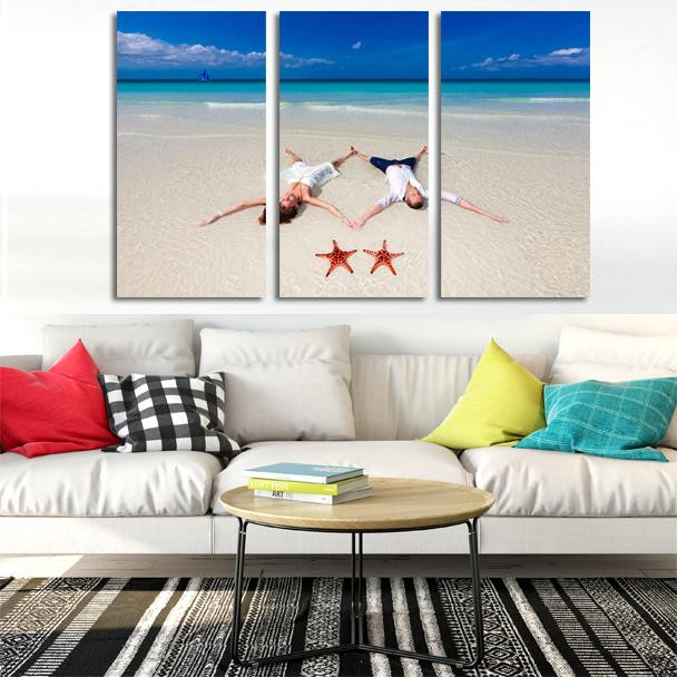 Split photos Canvas Prints