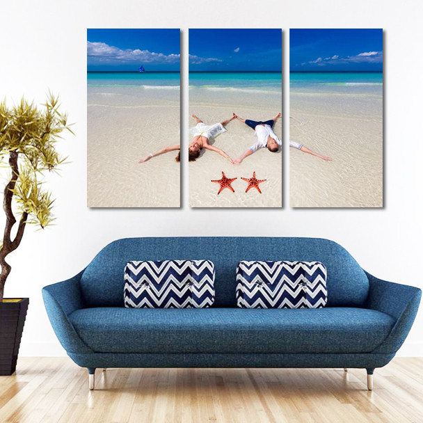 split canvas wall art