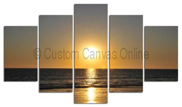 beach sunset art canvas prints western coast