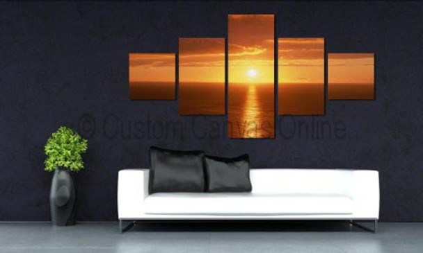 sunset beach painting on canvas art prints