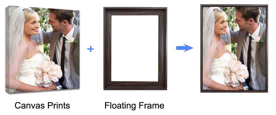 floating frame canvas prints