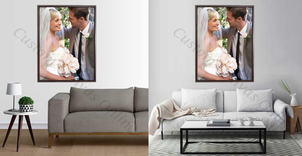 floater frames for stretched canvas