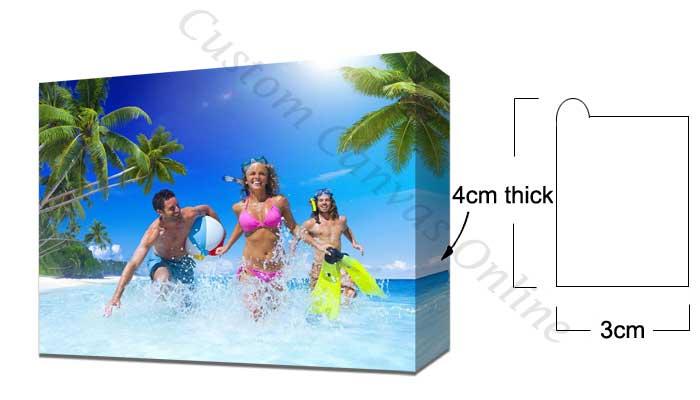 3x4cm wooden frame large canvas