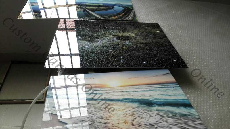 aluminium or acrylic prints