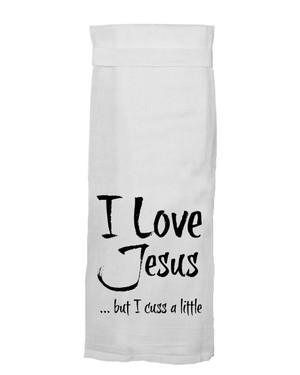 Jesus Cusses Towel