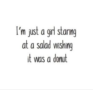 Magnet: Girl | Salad | Donut