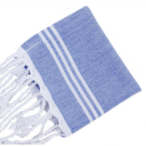 Blue with White Turkish Napkins S/4