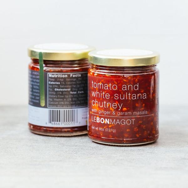 Tomato and White Sultana Chutney (with Ginger & Garam Masala)
