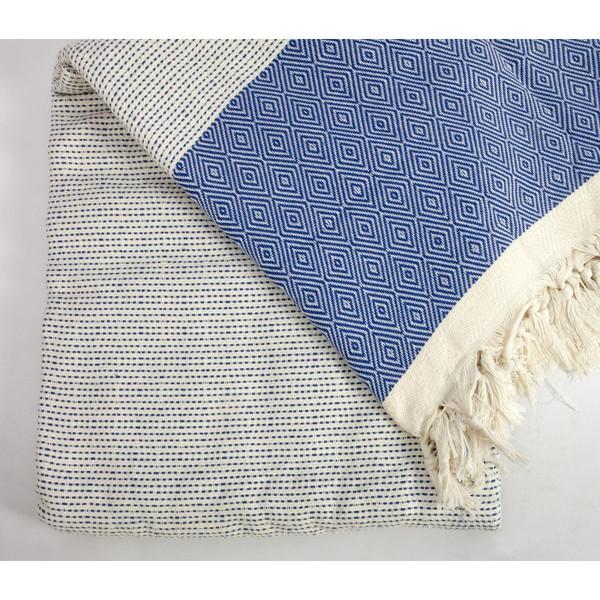 Blue Quick Pick XL Turkish Blanket