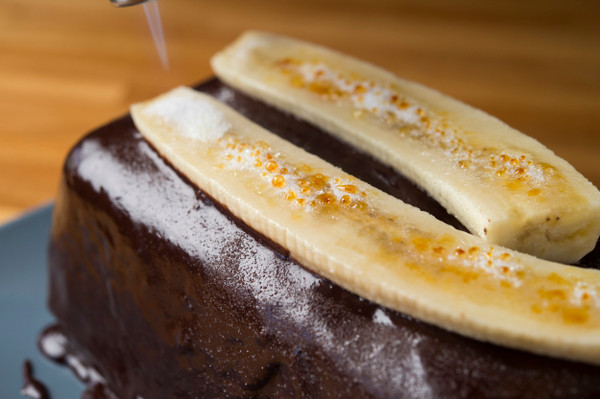 Recipe: Double Chocolate Tamarind Banana Brûlée Cake