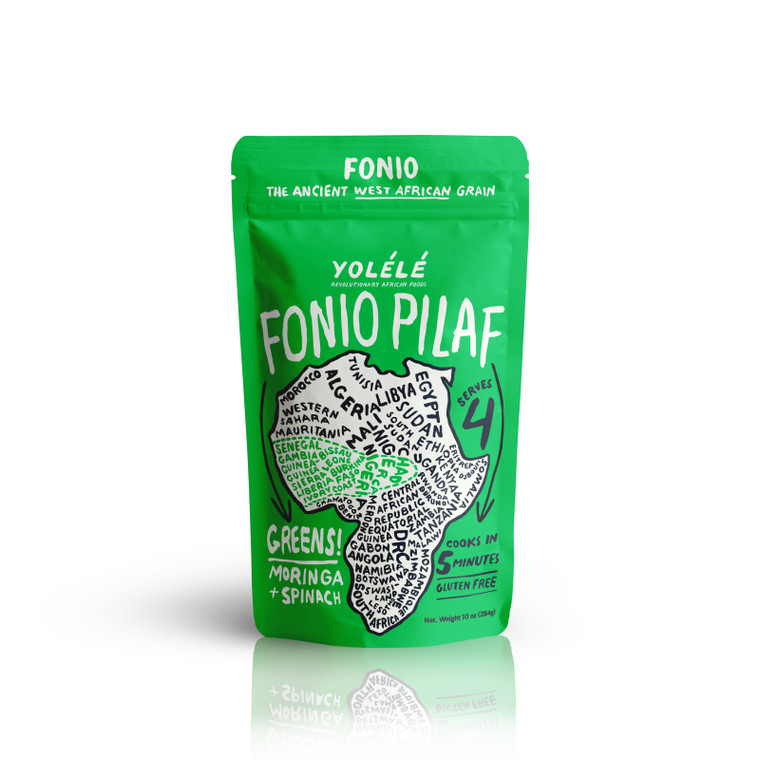 Greens! Fonio: Moringa + Spinach