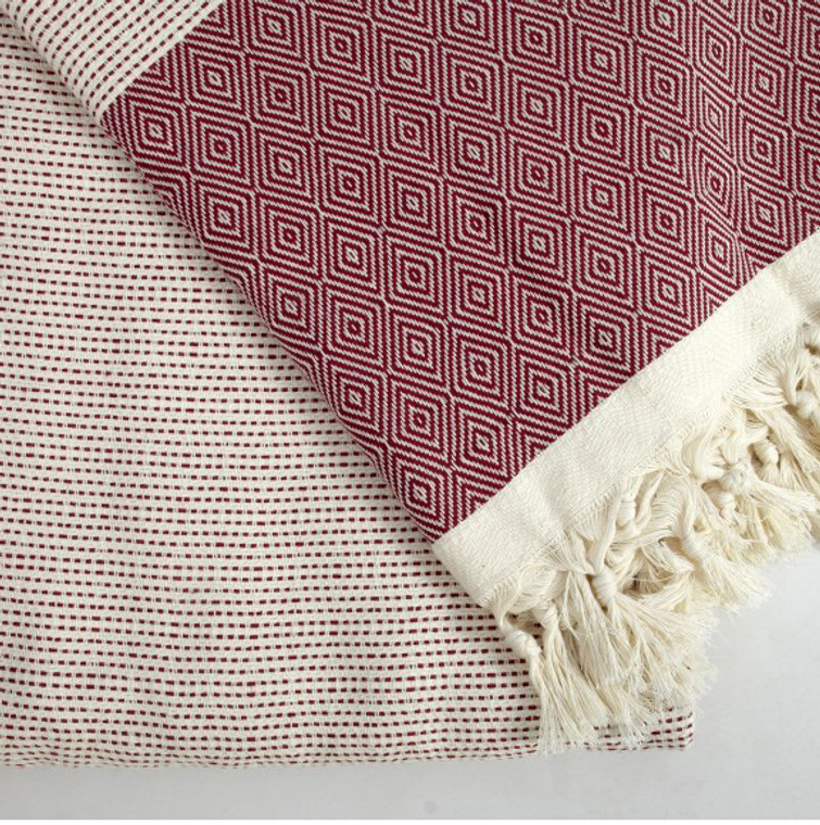 Burgundy Quick Pick  XL Turkish Blanket