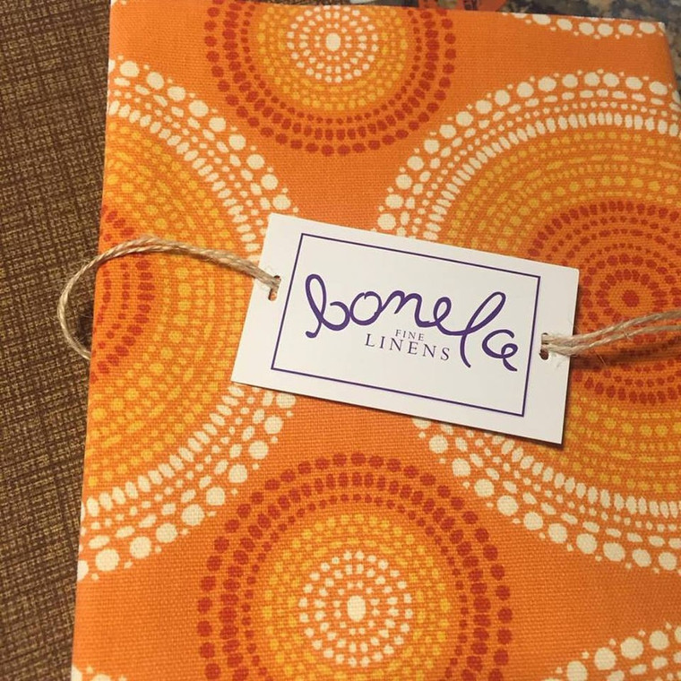 Bonela Linens - Orange Spiral