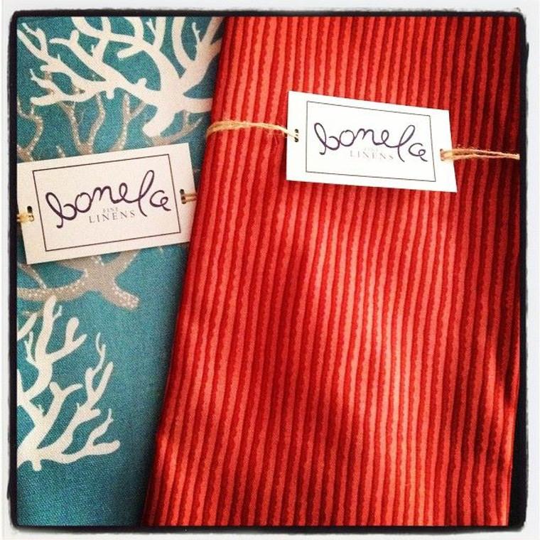 Bonela Linens - Red/Pink Stripe